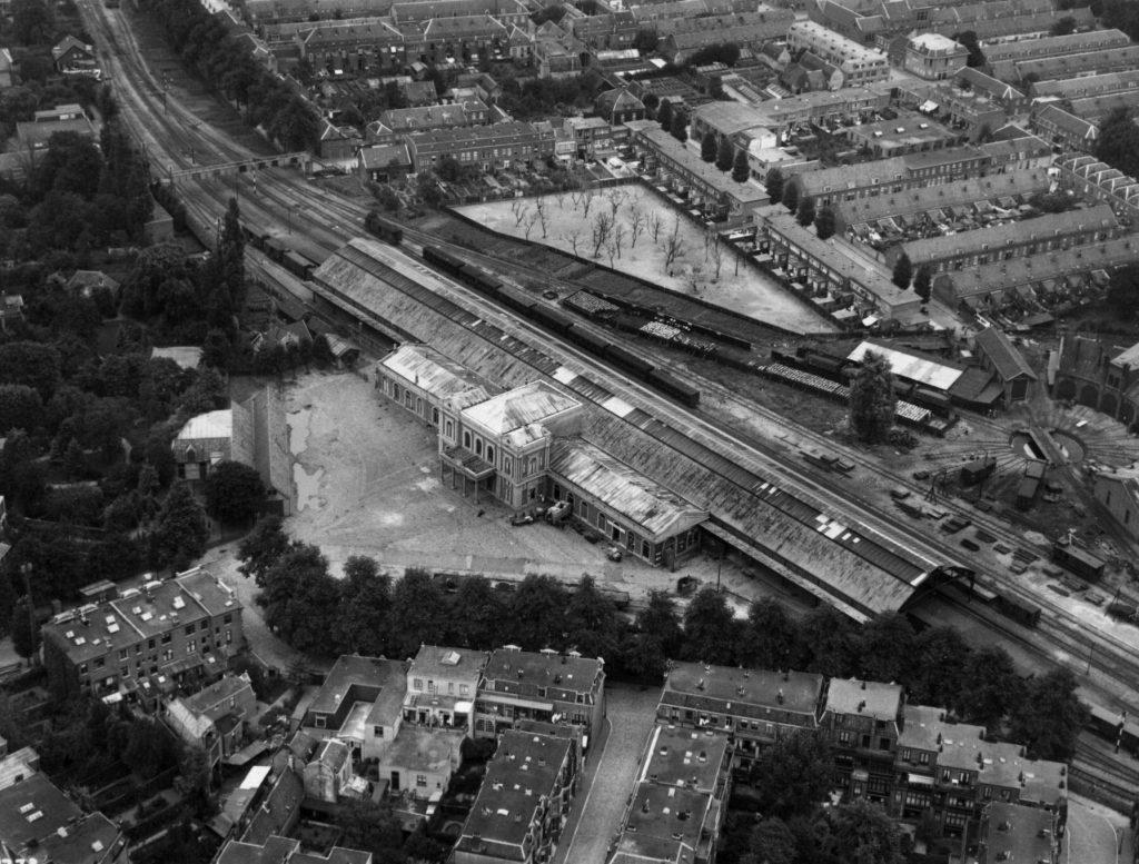 Luchtfoto van de buurt door graaf Von Zeppelin in 1929