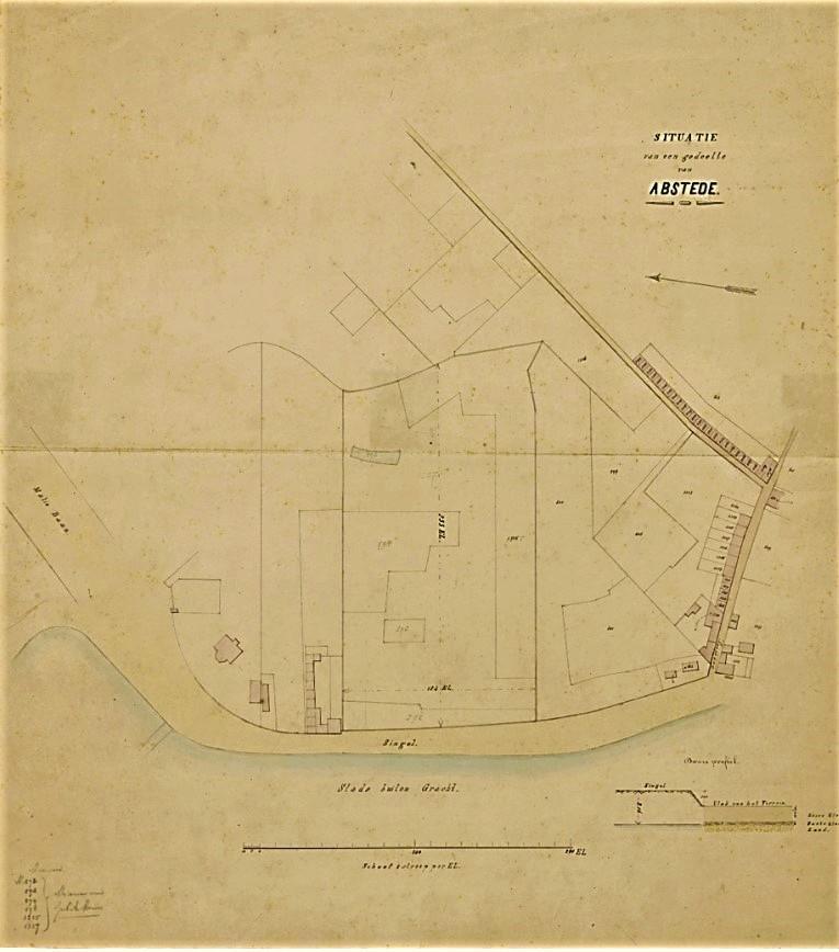 Plattegrond voor een nieuw stads- en academisch ziekenhuis uit 1860 (niet gerealiseerd)