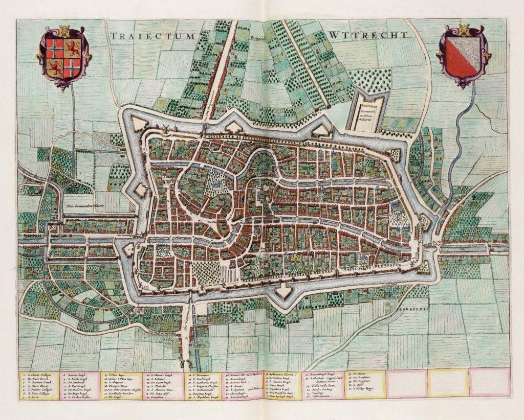 De kaart van Utrecht uit 1649