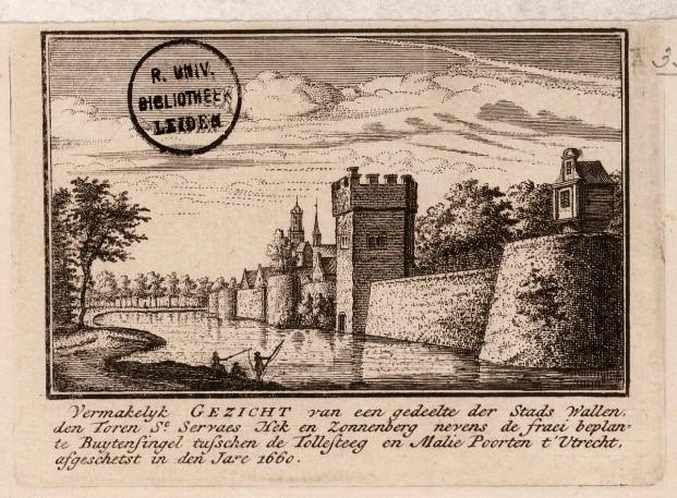 De Utrechtse stadswallen rond 1577 gezien vanuit onze buurt