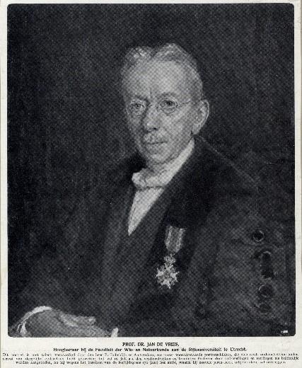 Portret van Prof. Jan de Vries