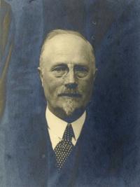 Portret van predikant Troelstra