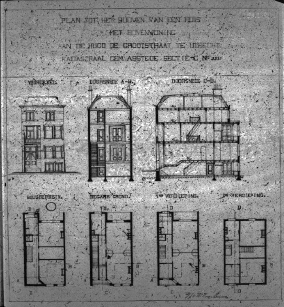Bouwplan Johan de Wittstraat 1 en Hugo de Grootstraat 1 en 2