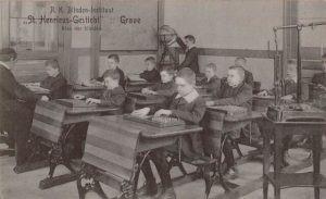 Schoolklas van Sint Henricus in Tilburg voor slechtszienden